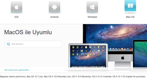 MAC OS ile uyumlu