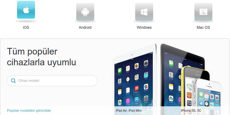 iOS ile uyumlu
